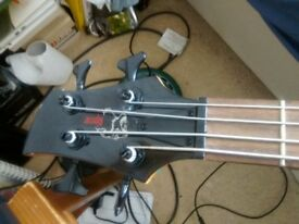 Riproar 4 string bass guitar