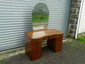Mirror backed dressing table