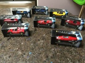 BP Classico Collectible cars x 8