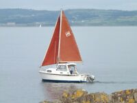 Hardy 19 Motor sailer in excellent condition with Honda 15hp outboard & four wheel trailer