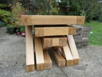 Z solid oak designer furniture nest of three coffee tables