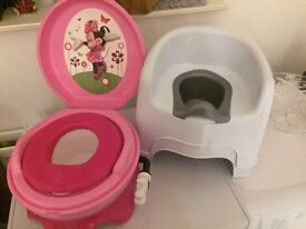 Minnie Mouse Potty & 2 chair Potty