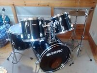 Premier Olympic drum kit, 5 Piece, Remo Pinstripes