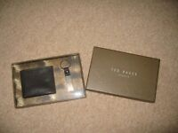 Ted Baker Leather Wallet and Key Ring Set - NEW IN BOX
