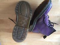 Genuine Doc Martin Boots Purple Size 6 Mint Condition