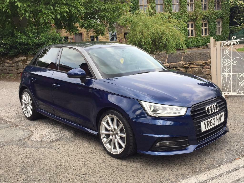 audi a1 s line black edition tfsi 5door navy blue sat nav leather bixenons etc in oldham. Black Bedroom Furniture Sets. Home Design Ideas