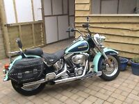 Harley Davison 1450 Heratige softail custom. very rare color. sreaming eagle filter and pipes.