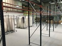 Mecalux heavy duty warehouse/retail/costume store garment storage racking