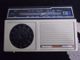 vintage benkson tr6 solid state radio pwo