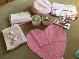 Pink girls bedroom bundle