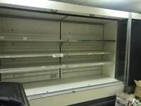Shop refrigerator and Tabasco stand for sale