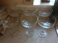 Crystal glasses x 6