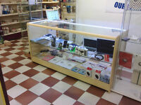 GLASS COUNTER FOR SALE RETAIL DISPLAY