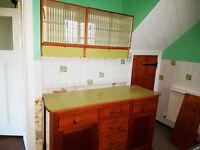 Original 1930's Antique Retro Kitchen Unit & Wall Cupboard
