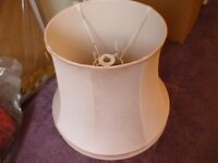 large pink lamp shade , quality lamp shade ,only £5.collect from stanmore , middlesex .lovely shade.