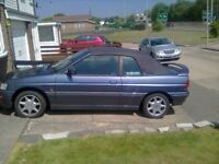 FORD ESCORT 1.6i zetec convertible swap large car or 7 seater