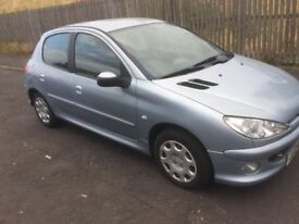£30 ROAD TAX DIESEL PEUGEOT 206 2005 5DR FULL YEAR MOT EXCELLENT CONDITION