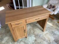 Computer Desk - Solid Oak
