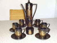 Vintage Portmeirion 'Phoenix' Complete 16 Piece Coffee Set (1968)(Ravenhill Road)