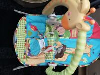 Baby bouncer with music and vibration