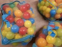 Multi coloured soft play balls