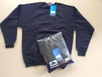 2 Workwear Black Sweatshirts M L XL