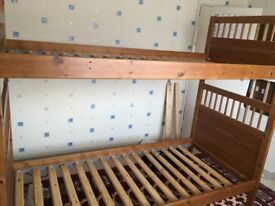 Hard wood bunk bed for sale