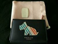 Cute RADLEY Blue LEATHER Small Trifold Purse (rrp £49)