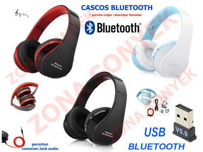 CASCOS AURICULARES BLUETOOTH + USB BLUETOOTH 5.0 para ordenadores PC
