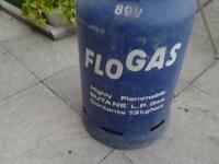 empty 13kg butane L.P gas bottle