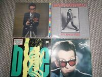 Elvis Costello Four Vinyl LP Records. Almost Blue, This Years Model, My Aim is True, Trust.