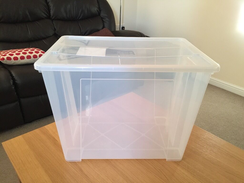 ikea plastic storage boxes with lid excellent condition in ardwick manchester gumtree. Black Bedroom Furniture Sets. Home Design Ideas
