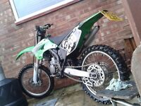 KAWASAKI KX 125 2004 ROAD LEGAL MOTOCROSS DAYTIME MOT