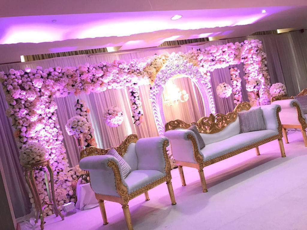 Asian Mehndi Party : Asian wedding stage mehndi party furniture marquee in