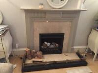 Fireplace Fender black and brass