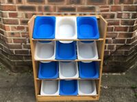 IKEA storage unit and boxes. Good condition. Ideal for toys, tools, nails, etc. Bargain.