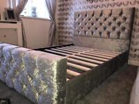 Bed - Double Bed Crush Velvet