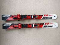 90cm atomic skis with bindings.