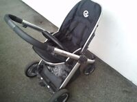 Black Babystyle Oyster pram 2 in 1
