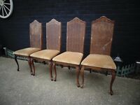 4 ANTIQUE SOLID PINE DINING CHAIRS ALL IN EXCELLENT CONDITION £50