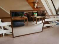 Big wooden frame mirror
