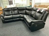Corner Recliner Sofa Black