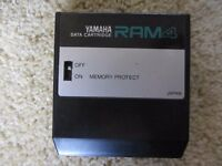 Yamaha RAM4 storage Data Cartridge for older Synthesizers & Gear DX7, DMP7, D50 etc