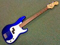 Fender Squier Precision P Bass Guitar Mystic Blue 2005