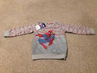Spider-Man sweatshirt 3-4yrs NEW