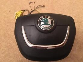 Genuine Skoda Steering wheel centre air bag, part no. 1ZO 880 201 AH TDZ