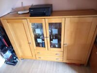 High Sideboard/Cabinet - Solid Wood