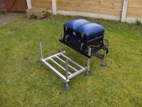 Preston On Box Match Fishing Seat Box/Seatbox + Sliding Footplate + Shoulder Strap