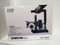 DSLR Spider Rig DR-2 Shoulder Mount Kit Fr Canon 6D 7D 5D mark II III Camera