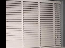 White wooden effect blinds